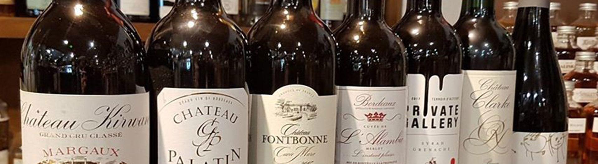 vins rouges cave