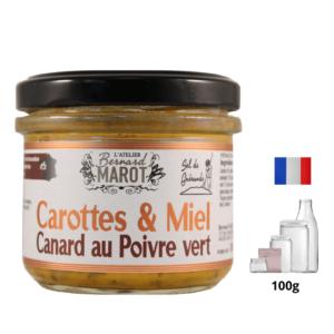 Carottes au miel Canard au Poivre vert alambic Avranches fougères