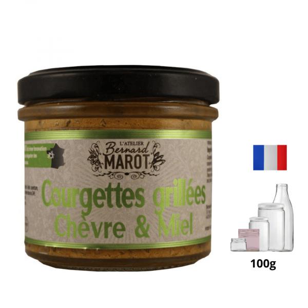 Courgettes Grillées Chèvre & Miel alambic Avranches fougères