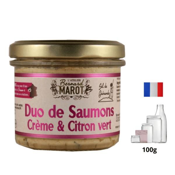 Duo de Saumons Crème & Citron vert alambic Avranches fougères