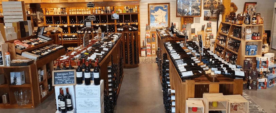 L'Alambic vue d'intérieur vins rouges